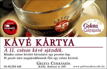 Kávé Kártya Hűségprogram